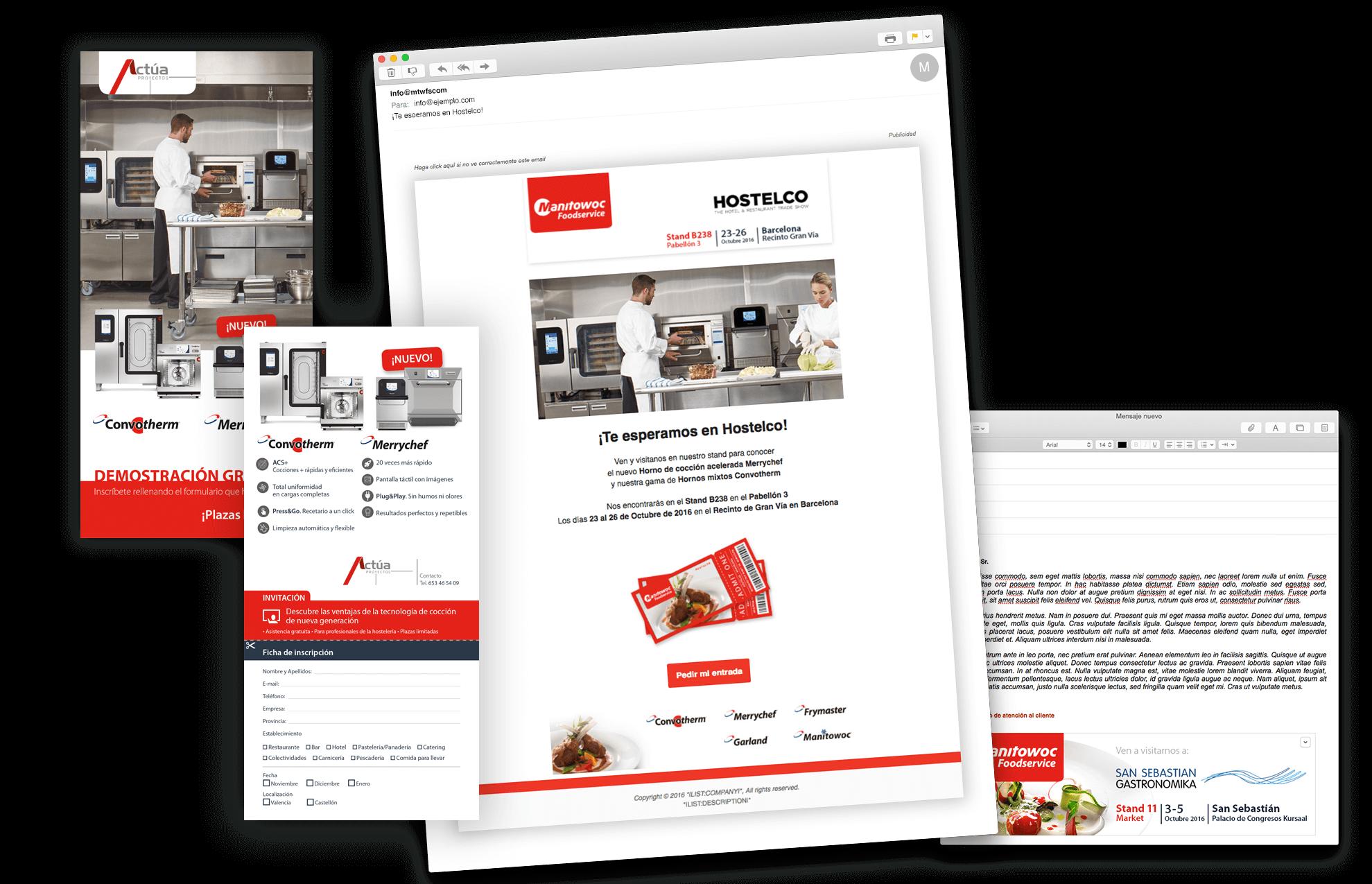 elementos comunicacion evento barcelona - Soluciones en marketing, diseño gráfico... para Manitowoc