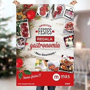 carteles festividad navidena barcelona - Carteleria especial para Mes Gourmets