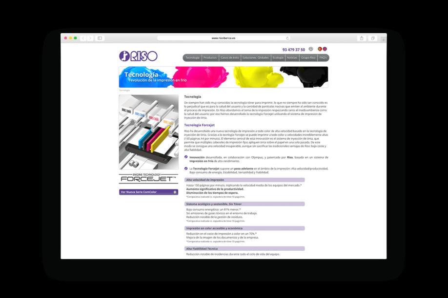 disseny pagines web barcelona riso min 918x612 - La firma japonesa de impresión digital Riso estrena página web