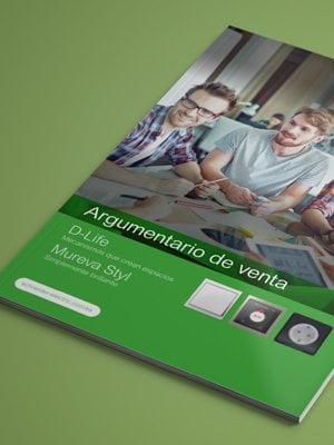 disseny de catalegs per empreses estudi a barcelona - Disseny i maquetació d'un fulletó. Argumentari de vendes