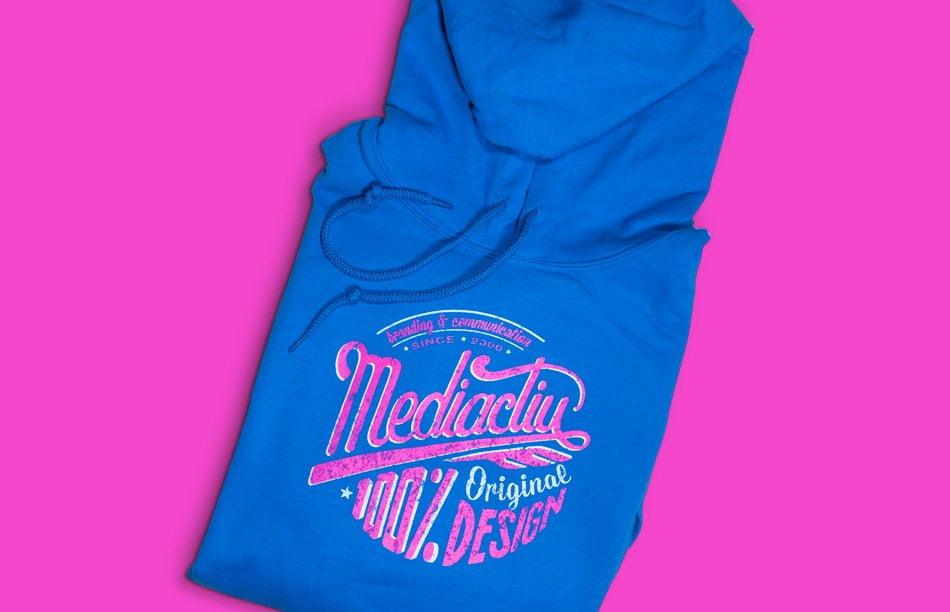 estudio diseno grafico promocional sudaderas - 100% Original Blue Sweatshirt