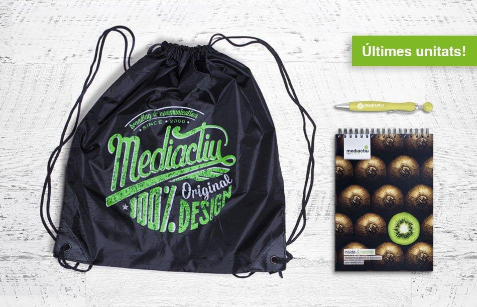pack merchandising bolsa libreta boligrafo - Pack 100% Original Design