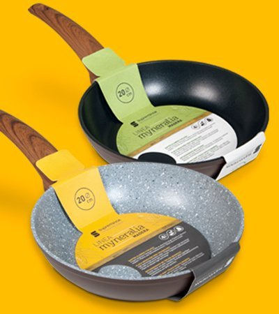 paella diseno grafico faja Barcelona - Frying pan packaging