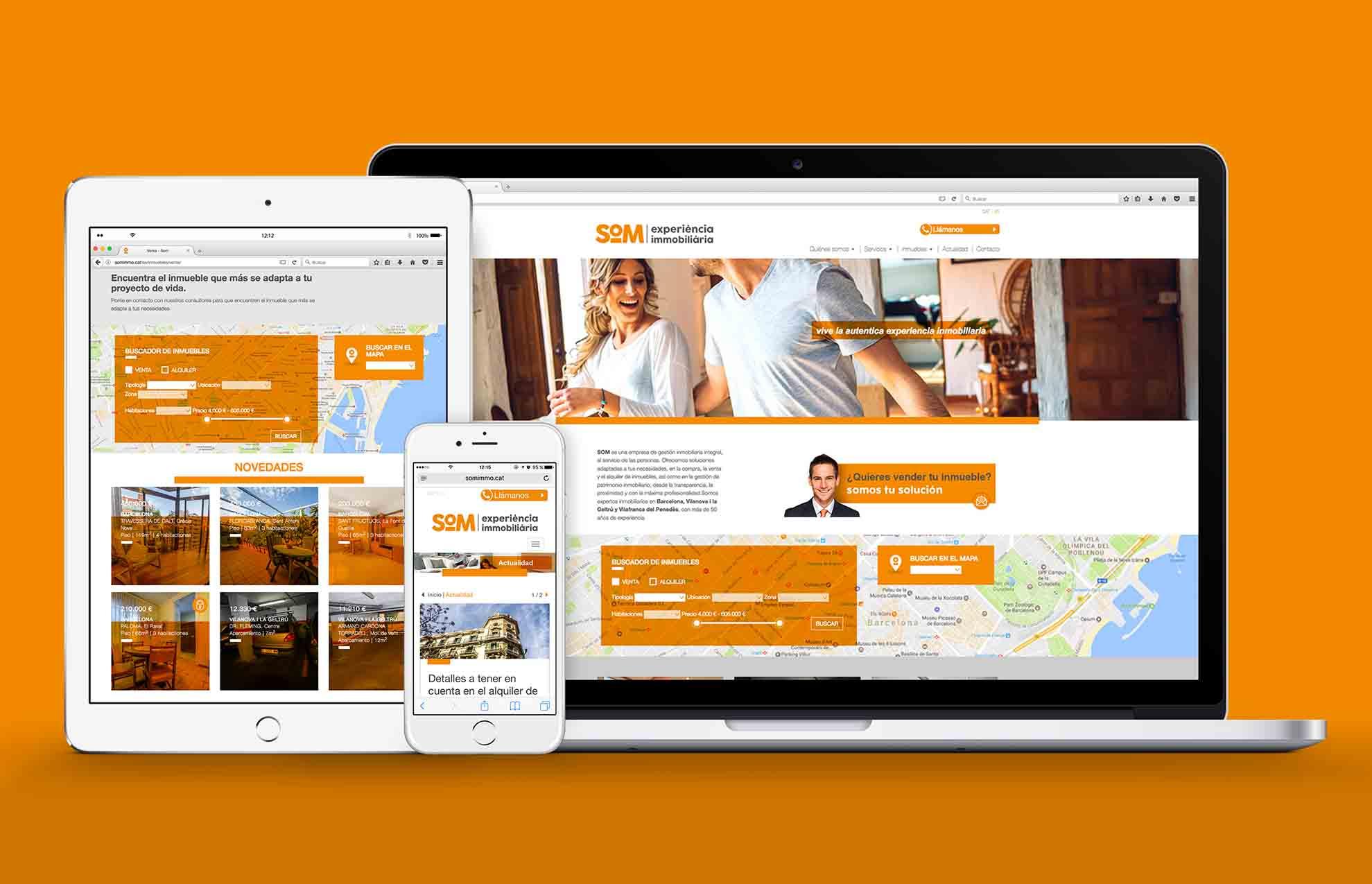 disseny web immobiliaria barcelona - Proyecto de comunicación, diseño y branding 360º