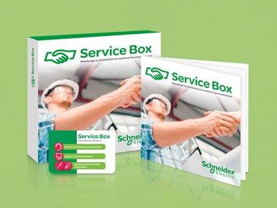 elementos comunicativos agencia diseno grafico barcelona - Campanya promocional Service Box
