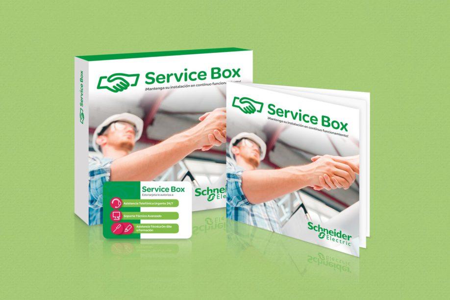 Service box promotional campaign mediactiu for Diseno grafico editorial
