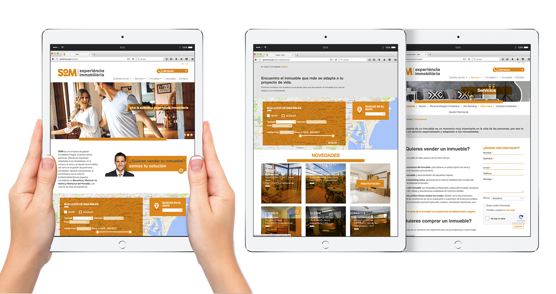 website responsive barcelona immobiliaria - Proyecto de comunicación, diseño y branding 360º
