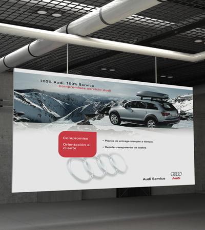 design studio poster promotional barcelona audi - Carteles corporativos para Audi