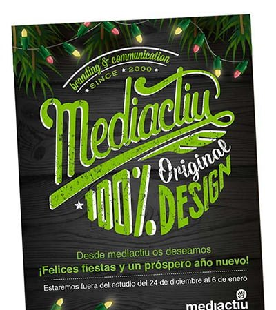 diseno grafico estudio en barcelona - Selection of Christmas greetings