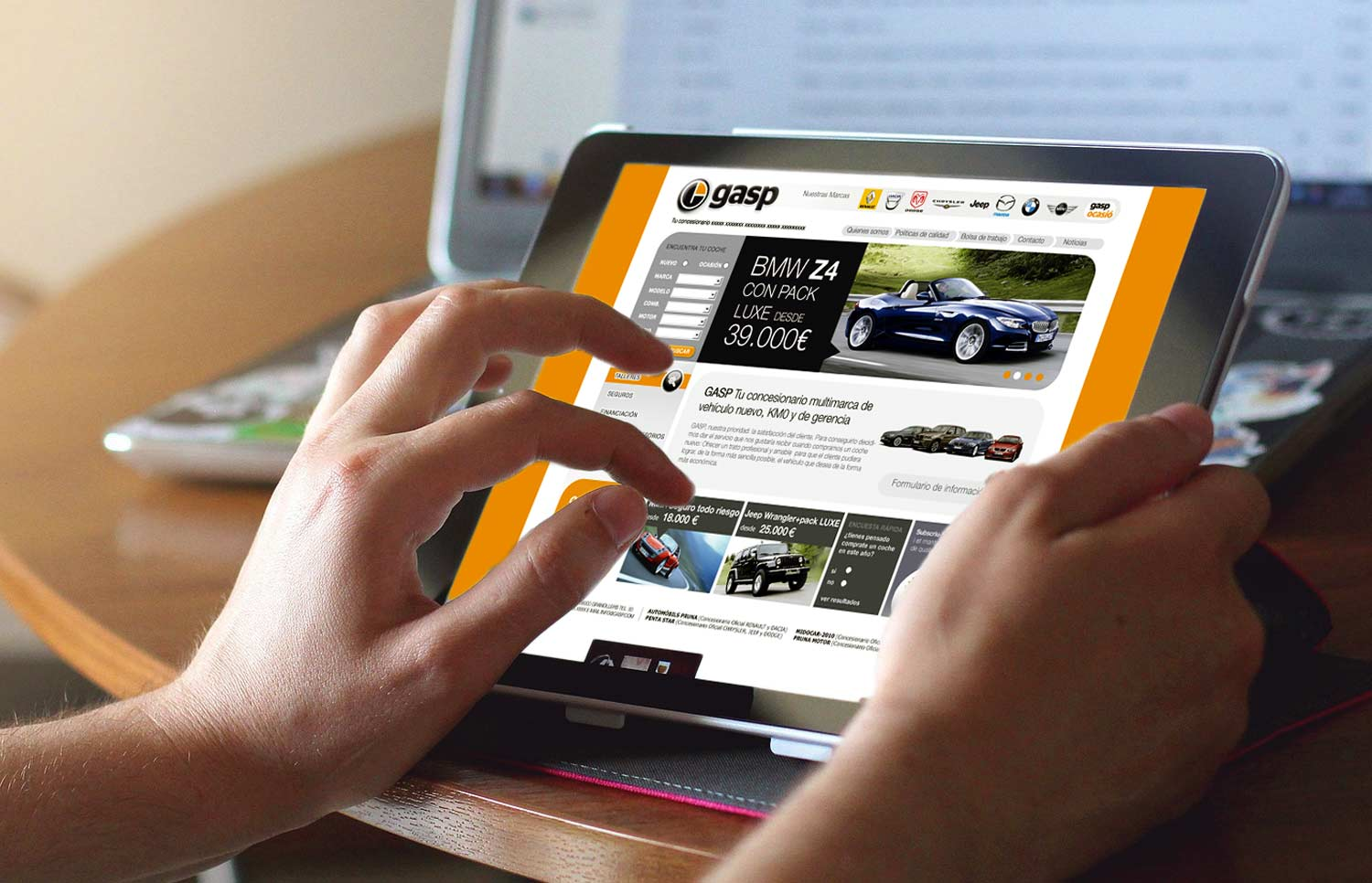 disseny web estudi barcelona 1 - Automotive sector website