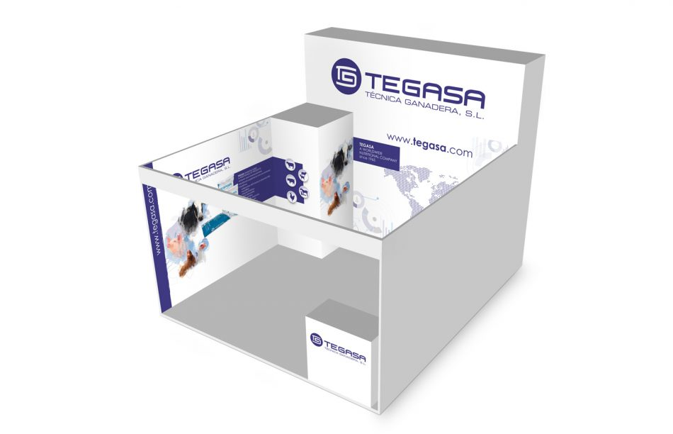 Creation of a stand for tegasa mediactiu for Creation stand
