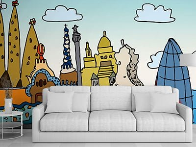 diseno vinilos ilustracion hoteles barcelona - Ilustración decorativa