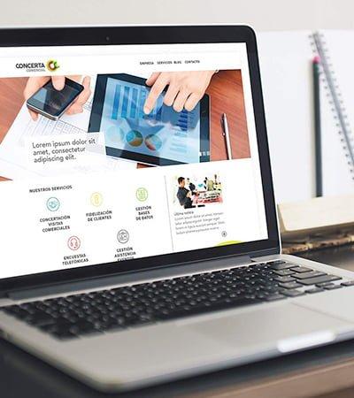 estudio maquetacion web barcelona - Creación de webde contratación de visitas comerciales