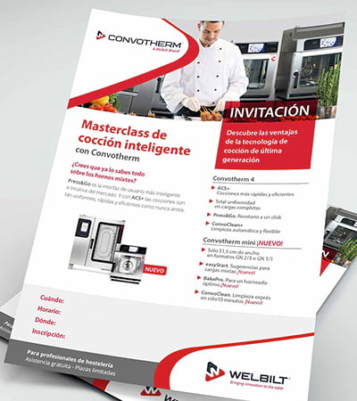 diseno de campanas para captacion clientes - Promotional material for industrial sector of catering equipment