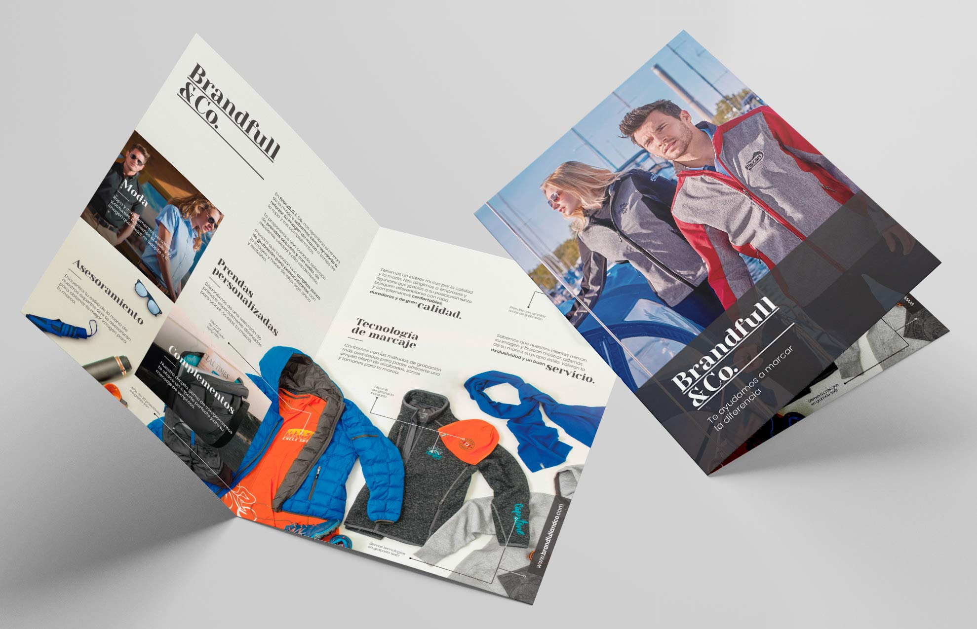diseno sales folder marca moda - Brandfull&Co, un proyecto integral de diseño