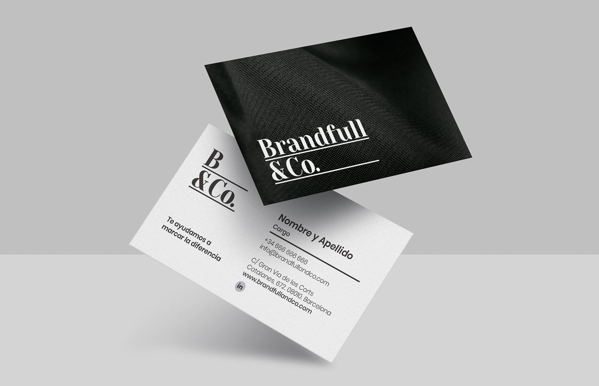 diseno targeta comercial moda - Brandfull&Co, un proyecto integral de diseño