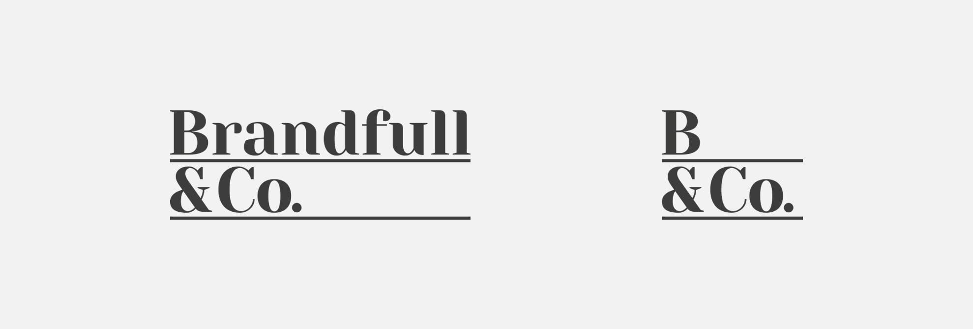 logotipo para sector textil - Brandfull&Co, un proyecto integral de diseño