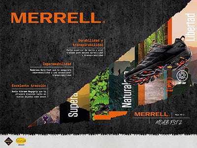 diseno escaparate - Sortefront displays for Merrell