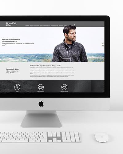 web design - Disseny de website per a empresa tèxtil