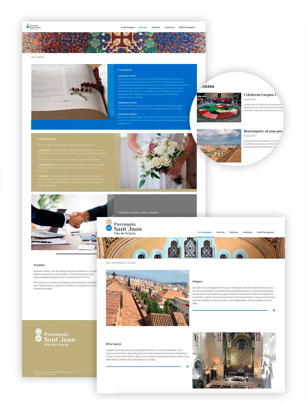creacion web para esglesia barcelona 1 - ¿Quieres crear una web y no sabes cómo empezar? Te damos algunos consejos