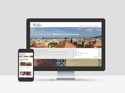 estudio de diseno web barcelona - Disseny de web per a parròquia