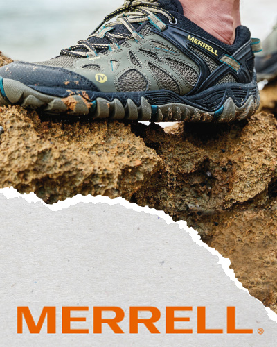 elemento publicitario merrell barcelona - Strategy and creativity for retail of sports equipment