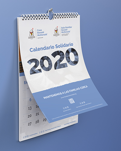 diseno de calendario social barcelona - McDonald's calendar design