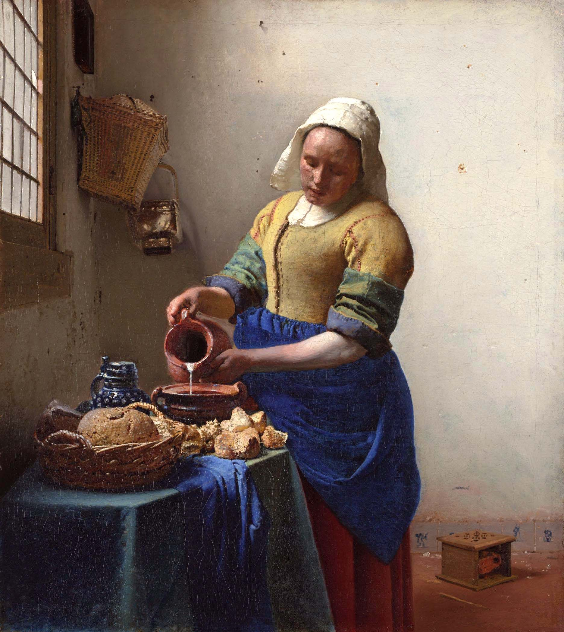 Vermeer La Lechera historia - Historia del diseño gráfico en el sector de la alimentación