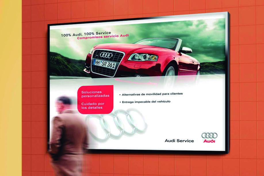 15 Cartel Audi - La rotulación una inversión que genera beneficios