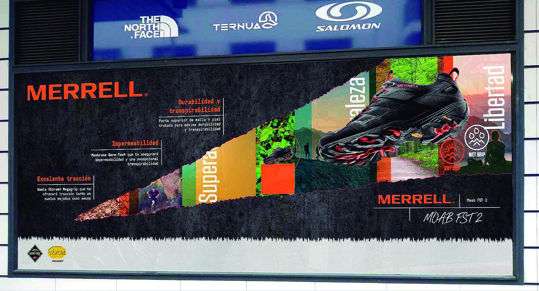9 Merrell Diseño escaparate - La rotulación una inversión que genera beneficios