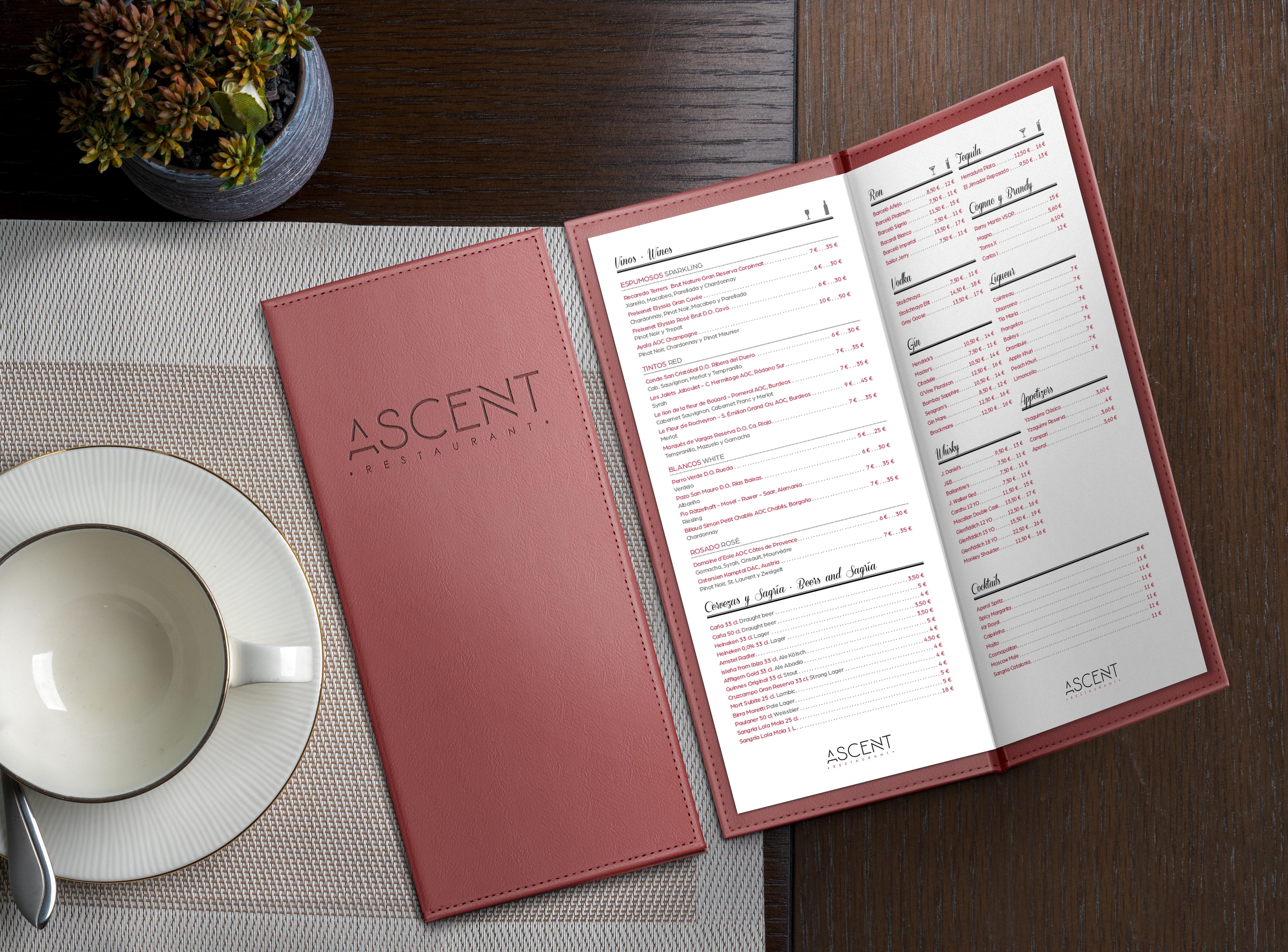 4 Ascent Restaurant mockup - En el detalle esta la diferencia y con acabados especiales se consigue