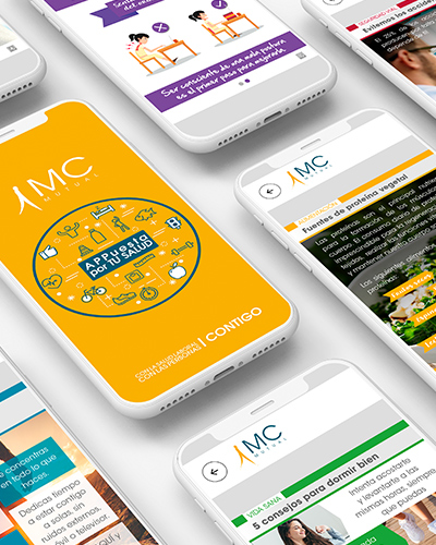 mcmutual diseno app - Interface design for an app